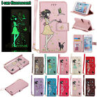 Fluorescent Leather Magnetic Wallet Stand Case Cover for iPhone 5 S SE 6 7 Plus