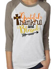Women's Thankful Letter Arrow Printed Splicing T-Shirt