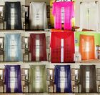 3 Piece Sheer Panel Set Window treatment covering Curtains & Scarf-12 colors