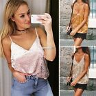 Women Sexy V-Neck Sleeveless Backless Spaghetti Strap Solid Casual Cami ES9P02