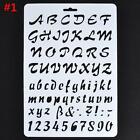 Letter Alphabet Number Layering Stencils Painting Scrapbooking Paper Cards TL