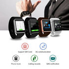 QW08 Bluetooth Wireless 4GB SIM WiFi GPS Smart Watch Phone Mate For Android