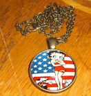 Vtg Style Circa Art Car Truck BETTY BOOP MIRROR HANGER   Hot Rat Rod 60s 70s $10.0 USD