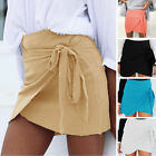 Women's Irregular Pleated High Waist Party Mini Skirt A-Line Casual Beach Skirts