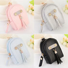 Mini Lovely Leather Backpack Style Key Chain Coin Purse Pouch Wallet