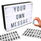 Light Up Message Board Lightbox Sign A4 Love Cinematic Cinema Letter Box Party