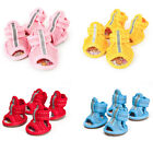4pcs/set BG Pop Dog Summer Shoes Breathable Mesh Puppy Shoes Dog Sandals Shoes