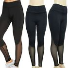 Women Mesh Workout Sports Gym Yoga Elastic Leggings Pants Fitness Trouser TUK