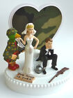 Wedding Cake Topper Duck Hunter Hunting Themed Camo Ball and Chain Bride Groom