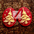 2/4/6pcs Retro Vintage Style Resin Cameo Christmas Series 10 Styles 4 Colors BF