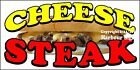 (CHOOSE YOUR SIZE) Cheese Steak DECAL Concession Food Truck Vinyl Sign Sticker