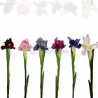 1Pcs Artificial Iris Flowers Bridal Bouquet Home Garden Vase Wedding Party Decor