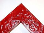"""1 1/2"""" Cherry Red EMBOSSED TRIBAL Wood Picture Poster Frame-Standard Sizes"""