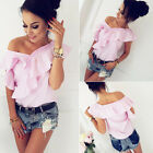 Fashion Women Summer V-Neck Short Sleeve Shirt Loose Casual Blouse Tops T-Shirt