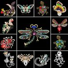 Women Fashion Crystal Rhinestone Butterfly Animal Bouquet Brooch Pin Jewelry New