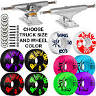 Independent Trucks Bones SKATEBOARD 100's Wheels PACKAGE Abec 9 Bearings Combo image
