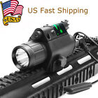 US Red/Green Laser Sight CREE Q5 LED Flashlight Combo for 20mm Picatinny Rail