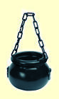 Witch's Kettle Black with Chain Cauldron Accessory Witch Magic Wizard Gaul