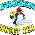 Frozen Sweet Tea DECAL (Choose Your Size) Food Truck Sign Restaurant Concession