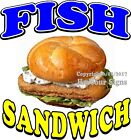 Fish Sandwich DECAL (CHOOSE YOUR SIZE) Seafood Food Truck Sign Concession
