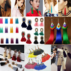 Women Fashion Bohemian Earrings Vintage Long Tassel Fringe Boho Dangle Earrings image