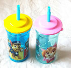 Girl Boy Character Paw Patrol Tall Drinking Cup with Straw 3 Yrs +  New