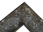 """2.3"""" Aged Black Rose Ornate Wood Canvas Frame Picture Frame-Custom Panoramic"""