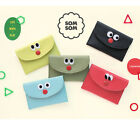 Som Som Stitch Mini Wallet Credit Business ID Card Money Holder Pocket Purse