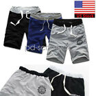 US New Men Summer Cotton Shorts Pants Gym Trousers Sport Jogging Casual Shorts