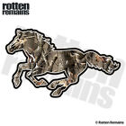 Camo Horse Decal Hunting Camouflage Pony Mustang Gloss Vinyl Sticker (LH) H44