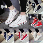 Hot Women Men Canvas Sneakers Breathable Low High Top Shoes Lace up Casual Shoes