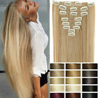 Long Real Thick Clip in Hair Extensions Real as remy human Hair Black Brown HG30