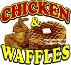Chicken & Waffles DECAL (CHOOSE YOUR SIZE) Food Truck Restaurant Concession