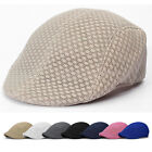 1X Mesh Men's Cabbie Ivy Driving Flat Cap Irish Hats Golf Ventilate Beret Sports