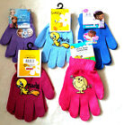 Girls Boys Assorted Character Gloves (One Size Approx age 3 - 7 ) New