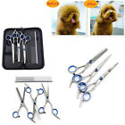 4/5PCS DOG PET PROFESSIONAL GROOMING HAIR THINNING SCISSORS SHEARS VARIETY SET