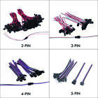 2/3/4/5Pin Male&Female JST Connector Wire Cable For WS2812/RGB/W LED Strip Light