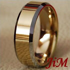 Tungsten Ring Mens 14K Gold Wedding Band Anniversary Womens Jewelry Size 6-13
