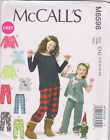 McCall's sewing Pattern 6596 Child 3-14,  top pants long / short sleeve