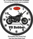 2017 MOTO GUZZI V9 BOBBER MOTORCYCLE WALL CLOCK-FREE USA SHIP, BMW, TRIUMPH $41.99 USD on eBay