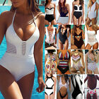Women Swimming Costume Floral Swimsuit Monokini Swimwear Push Up Bikini Suit LC