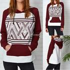 Fashion Women Hooded Raglan Sleeve Patchwork Pullover Casual Hoodie DZ88