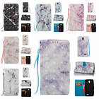 Fr ZTE Prestige N9132 Marble Pattern Glossy Synthetic Leather ID Card Case Cover