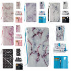For Huawei Honor 6C/Enjoy 6s Marble Pattern Glossy Synthetic Leather Card Cover