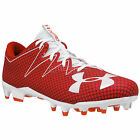 New Under Armour UA Nitro MC Mens Low Football Cleats : Red / White