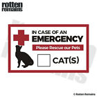 Emergency Cat Rescue Pet Safety Decal Fire First Responder Sticker M55