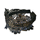 Black / Blue Carved Flowers Lacy Wide Hair Circle / Hair Band