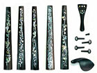 Solid ebony 4/4 Viola fingerboard, tailpiece,chinrest, peg,end pin,1 set,VIA