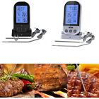 Wireless Digital Remote 2 Probe Meat Thermometer for Oven BBQ Smoker Grill Oven