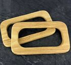 Bag Handles ,Pair of  Wood / wooden Shaped for making bags Craft , Sewing BH33